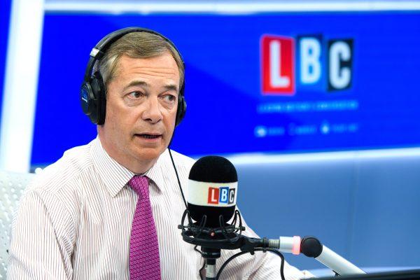 Nigel Farage, LBC